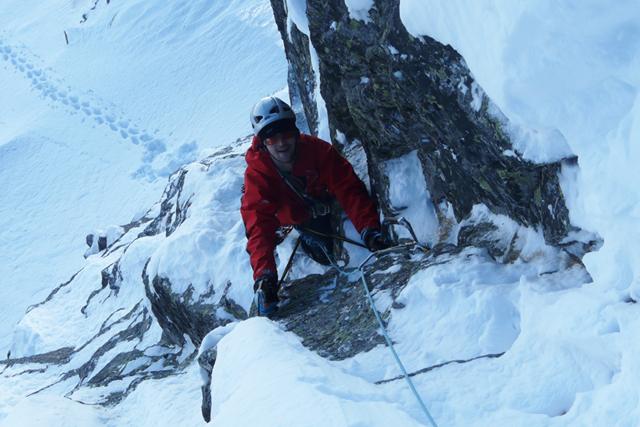 Зимно изкачване на връх Злия зъб по Източния гребен