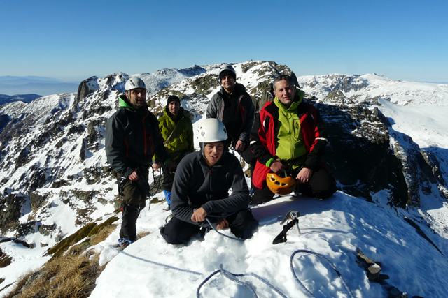 Winter Ascent of Peak Zlia Zub