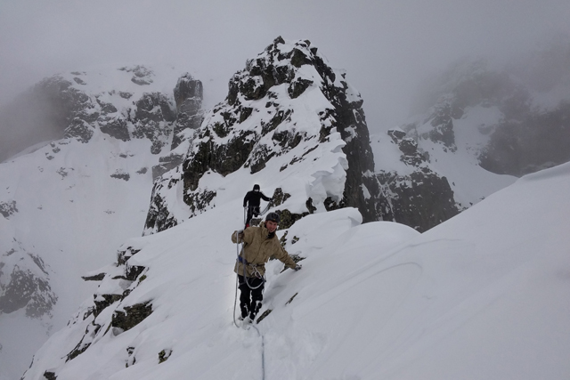 Winter Ascent of Peak Dvuglav
