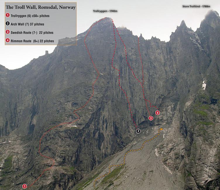 Биг уол експедиция до стената Трол в Норвегия